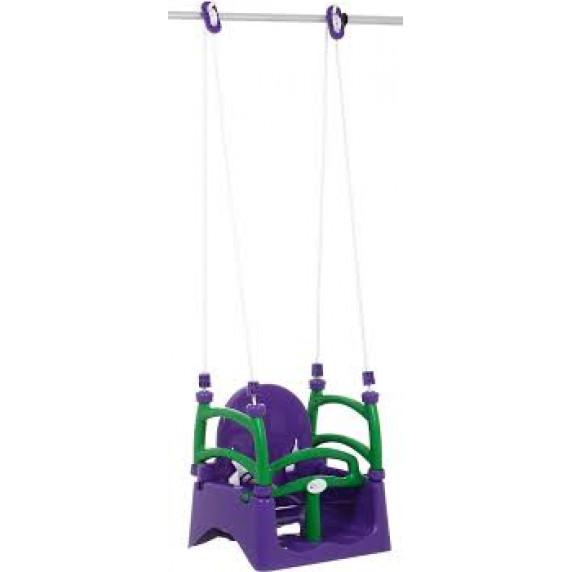Dětská houpačka s ohrádkou 3 v 1 Inlea4Fun  - fialová