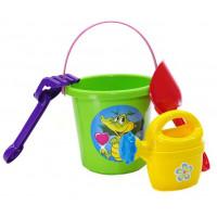 Souprava do pískoviště s kbelíkem a doplňky Inlea4Fun - zelená