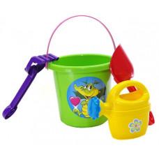 Souprava do pískoviště s kbelíkem a doplňky Inlea4Fun - zelená Preview
