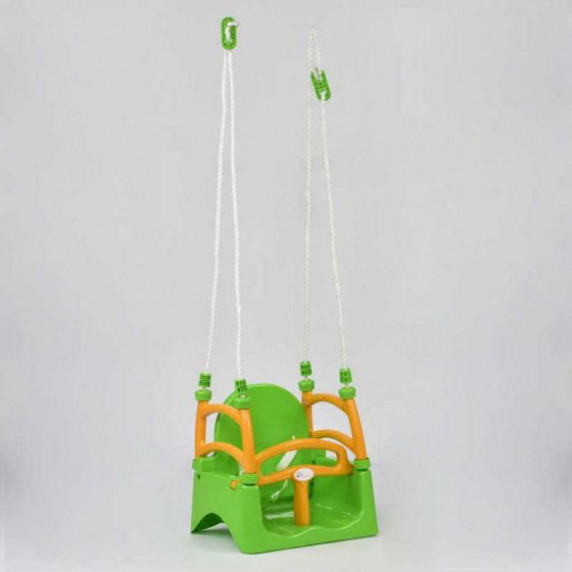 Dětská houpačka s ohrádkou 3 v 1 Inlea4Fun  - zelená