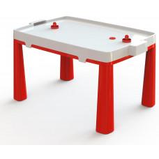 Umělohmotný dětský stolík se vzdušným hokejem Inlea4Fun EMMA - červený Preview