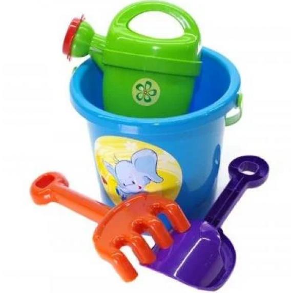 Souprava do pískoviště s kbelíkem a doplňky Inlea4Fun - modrá