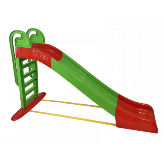 Skluzavka s držadlem 243 cm Inlea4Fun - červeno-zelená