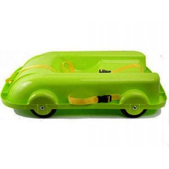 Univerzální bob s kolečky 2 v 1 Inlea4Fun 460504/1- zelený