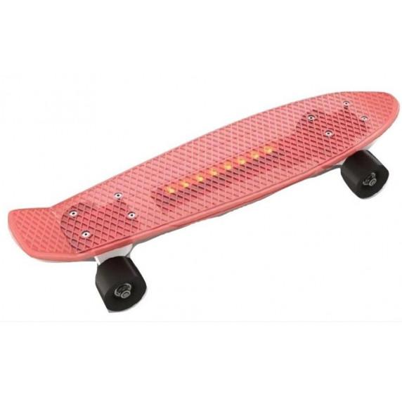 Skateboard s LED světlem Inlea4Fun - červený
