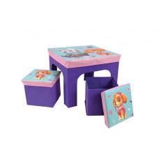 FUN HOUSE Dětský stolek s dvěma taburetkami a úložným prostorem Tlapková Patrola 712745 Preview