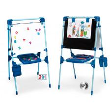Dětská oboustranná magnetická tabule CHICOS +  64 kusů příslušenství Preview