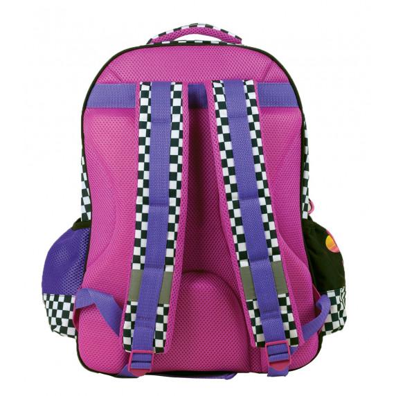 G.I.M. MINNIE Černý kostkovaný školní set 2020 - školní taška + penál