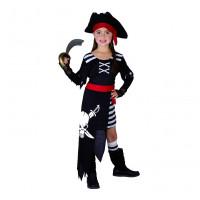 GoDan Kostým pro děti - Pirát s lepku, velikost 130/140 cm