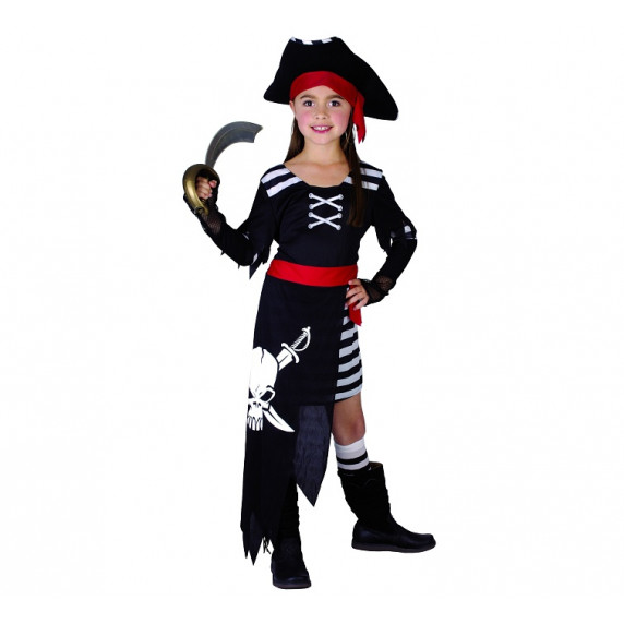 GoDan Kostým pro děti - Pirát s lepku, velikost 110/120 cm