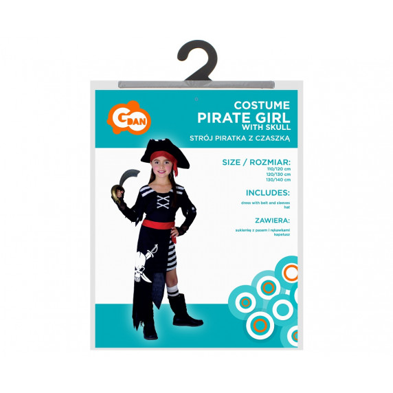 Godan Kostým pro děti - Pirát z Karibiku, velikost 120/130 cm