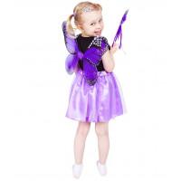 Godan Dětský kostým Motýlí víla s křídly - fialový