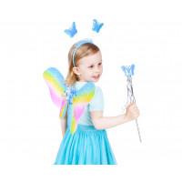 Godan Dětský kostým Motýlí víla s křídly - duhový