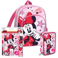 Školní set Kids Licensing MINNIE Růžový 2021 - batoh, penál s příslušenstvím