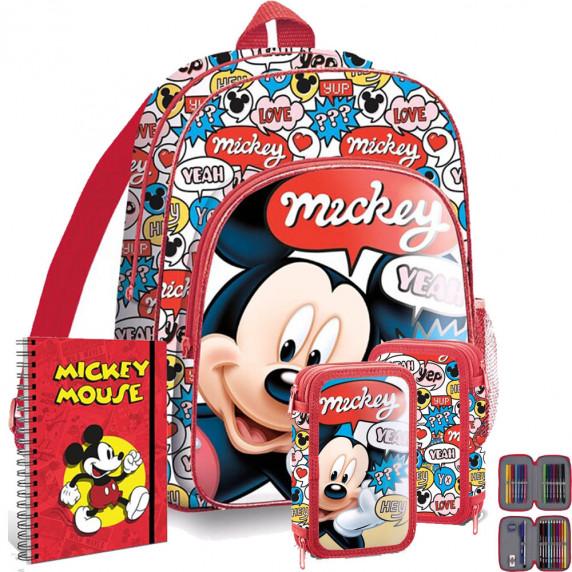 Kids Licensing školský set Mickey - batoh + penál s príslušenstvím