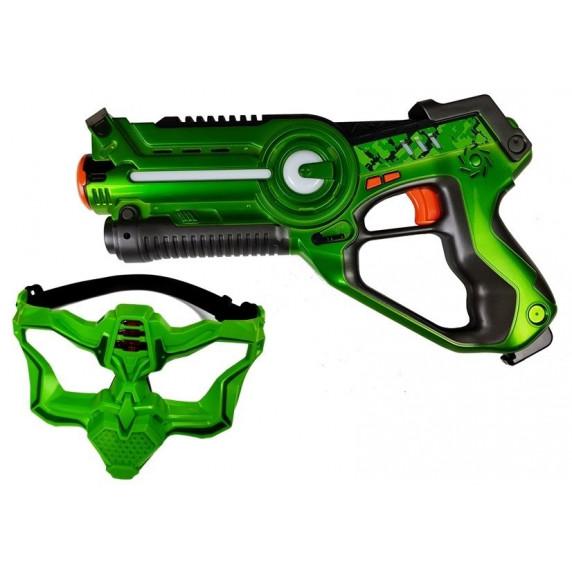 Call Of Life Sada laserové zbraně a masky červená - zelená