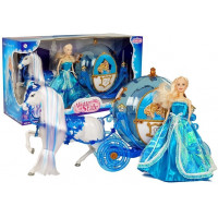 Princezna panenka s koněm a kočárem Inlea4Fun ILLUSION STATE