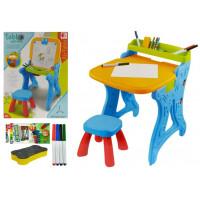 Inlea4Fun PAINTING TABLE Multifunkční kreslící stůl 2v1 s židličkou
