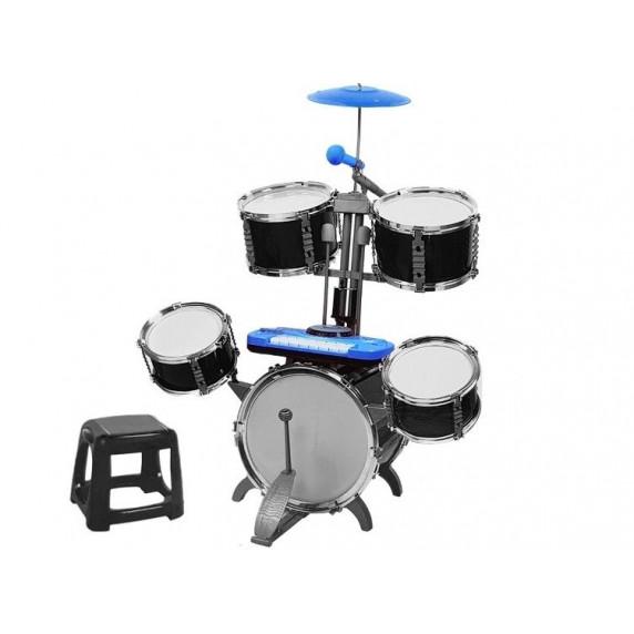 Inlea4Fun JAZZ DRUM Dětské bicí s klávesami - tmavě modré