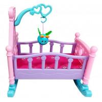 Inlea4Fun ROCKING BED Kolébka pro panenky - růžová
