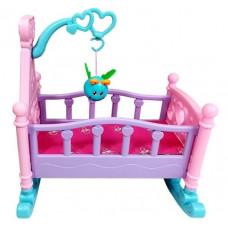 Inlea4Fun ROCKING BED Kolébka pro panenky - růžová Preview