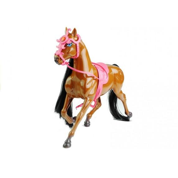 Inlea4Fun HORSES FAMILY Panenka s hnědým koněm a doplňky