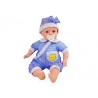Inlea4Fun BABY KID Dětská panenka-miminko 45 cm - modrá