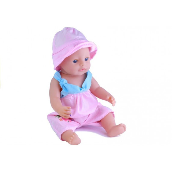 Inlea4Fun BABY MAY Interaktivní panenka 43 cm s plameňák