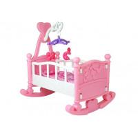Kolébka pro panenky BABY BED Inlea4Fun - růžová