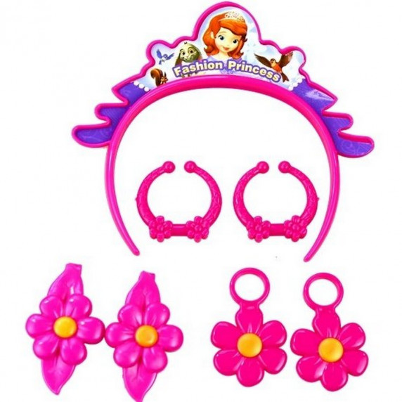 Inlea4Fun dětský set pro kadeřnice Princezna Sofia