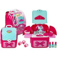 Inlea4Fun BEAUTY ANGEL Kosmetický sada v batohu s doplňky Toaletný stolík