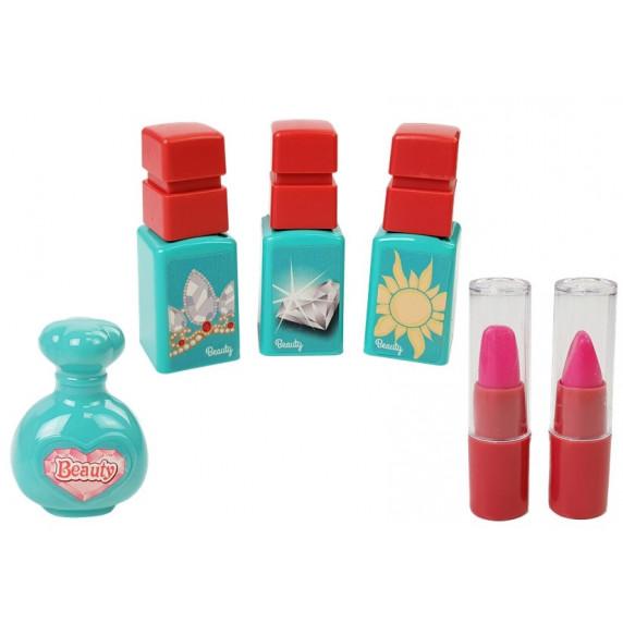 Inlea4Fun BEAUTY SET Kosmetický kufřík s doplňky 3v1