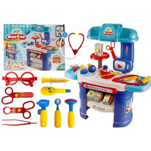 Inlea4Fun Dětský lékařský stůl s příslušenstvím