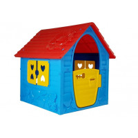 Záhradní domeček Inlea4Fun My First Playhouse - modrý/červený