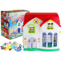 Dětský rozkládací domeček s nábytkem Inlea4Fun HAPPY FAMILY
