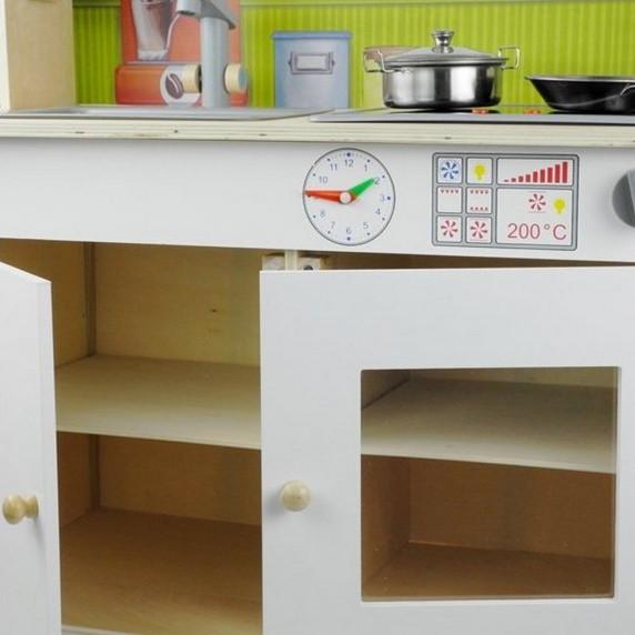 Inlea4Fun Dětská dřevěná kuchyňka Meggie