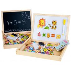 Inlea4Fun Dřevěný kufřík s magnetickou tabulí Preview