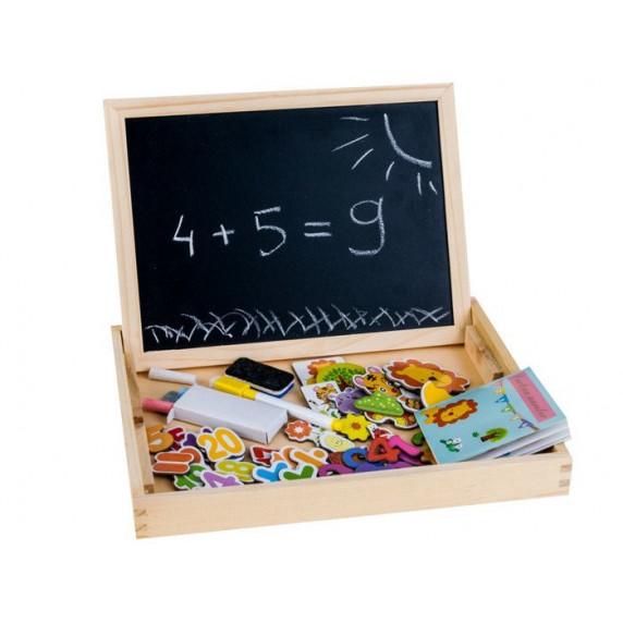 Dřevěný kufřík s magnetickou tabulí Inlea4Fun