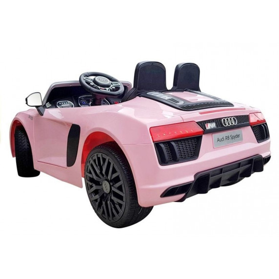 Elektrické autíčko AUDI R8 Spyder 2.4G EVA  - růžové