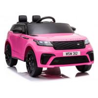 Elektrické autíčko lakované RANGE ROVER - růžové