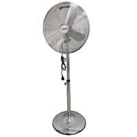 VENTO Domácí stojací ventilátor 40 cm 50W INOX chrom