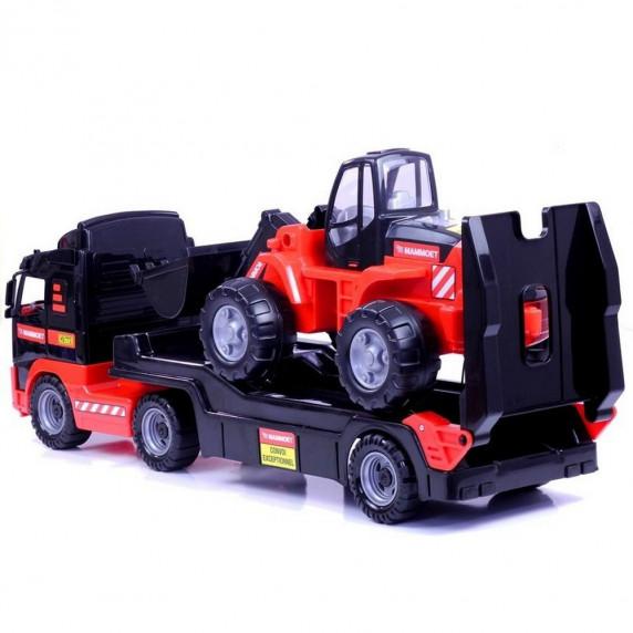 VOLVO Mammoet nákladní auto s bagrem 90 cm