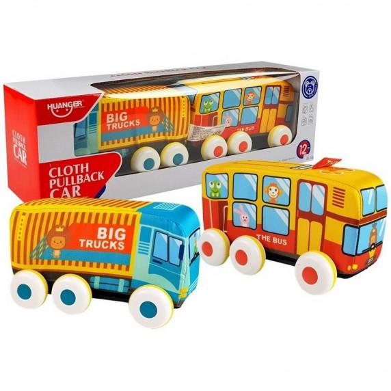 HUANGER Dětský autobus a nákladní vozidlo