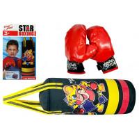Inlea4Fun STAR BOXING Souprava na boxování pro děti 36cm