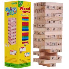 Inlea4Fun Wood Toys Jenga dřevěná spoločenská hra Preview
