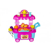 Inlea4Fun FOOD CART Vozík s rychlým občerstvením a doplňky