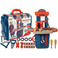 Inlea4Fun WORKBENCH Dětská dílna s nářadím v kufříku 3v1