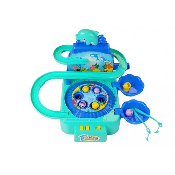 Inlea4Fun DOLPHIN PARK Dětský rybářský set - modrý