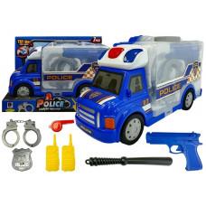 Policejní auto v kufříku s příslušenstvím Inlea4Fun POLICE STORAGE Preview