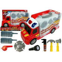 898/5000 Inlea4Fun FIRE CONTROL STORAGE Hasičské auto v kufříku s příslušenstvím